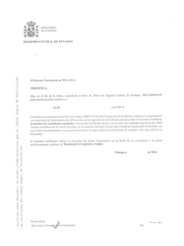 Criminal Record ES